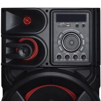 Caixa Amplificada Bluetooth 1500W Rms Woofer Mp3 Fm Usb Led Tws Aca 1501