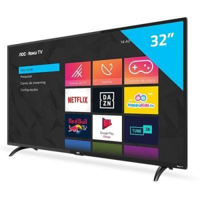 "Smart TV HD LED 32"" AOC 32S5195/78G Conversor Digital Wi-Fi"