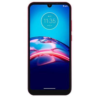 Celular Motorola Moto E6s Vermelho Magenta 64GB Tela 6.1 Camera Dupla 13MP 2MP