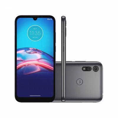 """Celular Motorola Moto E6s Cinza Titanium 32GB Tela 6.1"""" 2GB RAM Câmera Dupla 13M"""