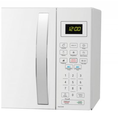 Forno Microondas Philco PMO26B Branco 110 v c/Teclas Fáceis 26 Litros