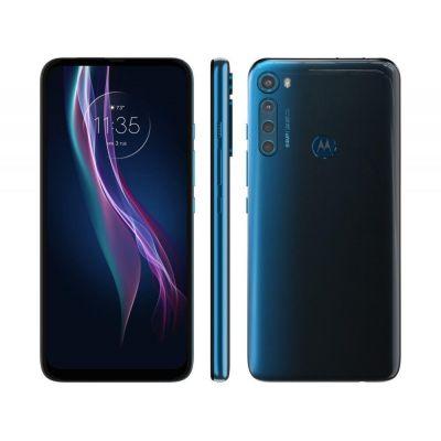 "Smartphone Motorola One Fusion+ 128GB Azul Indigo - 4G 4GB RAM Tela 6,5"""