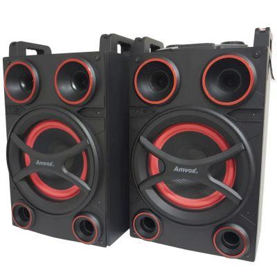 Caixa Som Amplificada Bluetooth 1400W Rms Ativa Passiva Amvox