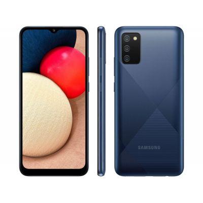"Smartphone Samsung Galaxy A02s 32GB Azul 4G - Octa-Core 3GB RAM 6,5"" Câm. Tripla"