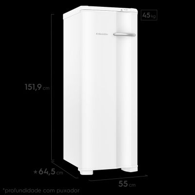 Freezer Vertical FE22 Electrolux Cycle Defrost Uma Porta 173L