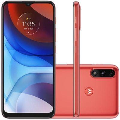 """Smartphone Motorola Moto E7 Power 32GB vermelho 4G 2GB RAM 6,5"""" Câm. Dupla"""