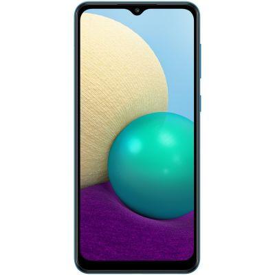 """Smartphone Samsung A02 32GB Azul 4G - Quad-Core 2GB RAM 6,5"""" Câmera Dupla"""