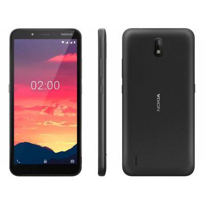 "Smartphone Nokia C2 16+16GB preto 4G 1GB RAM 5,7"" - Câm. 5MP + Selfie 5MP"