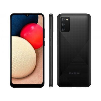 "Smartphone Samsung Galaxy A02s 32GB Preto 4G - 3GB RAM 6,5"" Câm. Tripla"