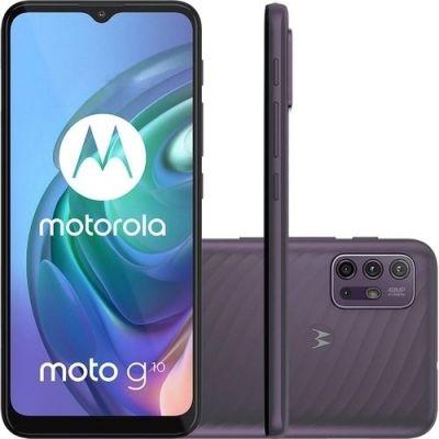 Smartphone Motorola G10 Cinza 64GB 4G Tela 6.5 4GB RAM Câmera Quádrupla