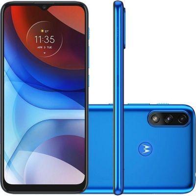 """Smartphone Motorola Moto E7 Power 32GB Azul 4G 2GB RAM 6,5"""" Câm. Dupla"""