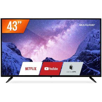 """TV 43"""" FHD com Função Smart e Wi-Fi Integrado - Multilaser, TL027"""