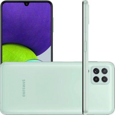 """Smartphone Samsung  A22 verde  128/4gb  6,4"""" câmera quádrupla selfie 13MP"""