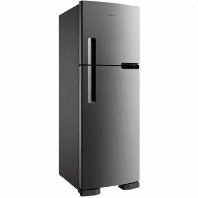 Refrigerador Brastemp Frost Free Duplex 375L Inox BRM44HK Evox 110V
