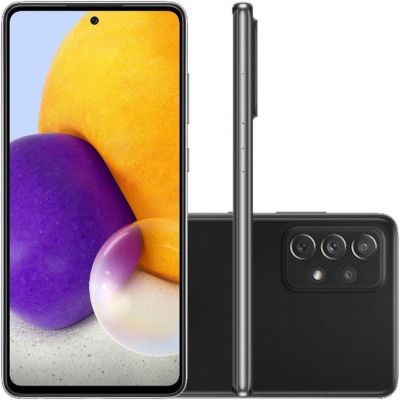 """Smartphone Samsung  A72 preto  128/6gb  6,7"""" câmera quádrupla selfie 32MP"""