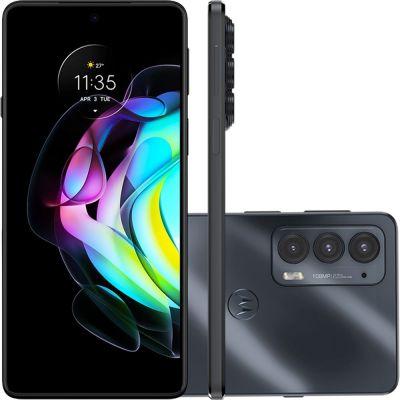 """Smartphone Motorola Edge 20 Preto 128/8GB Tela de 6.7"""", Câmera tripla"""