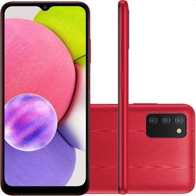 Smartphone Samsung A03s 64GB 4G Wi-Fi Tela 6,5'' Dual Chip 4GB RAM Vermelho