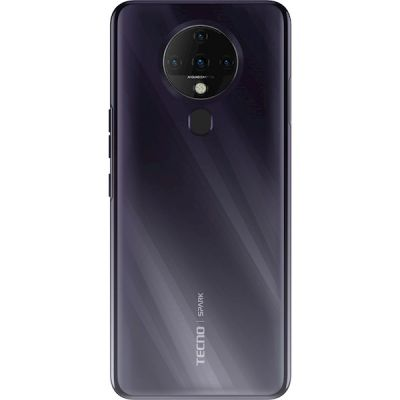 Smartphone TECNO Spark 6 (KE7) 4/128 GB Dual SIM Cometa Preto