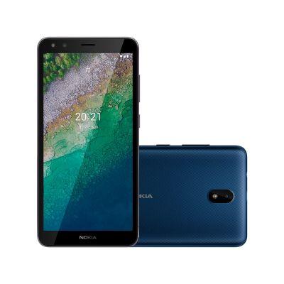 "Smartphone Nokia C01 Plus 32GB 1GB RAM Câmera 5MP Frontal 5MP Tela 5,45"" Android"