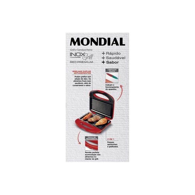 Sanduicheira Grill Mondial Premium S19