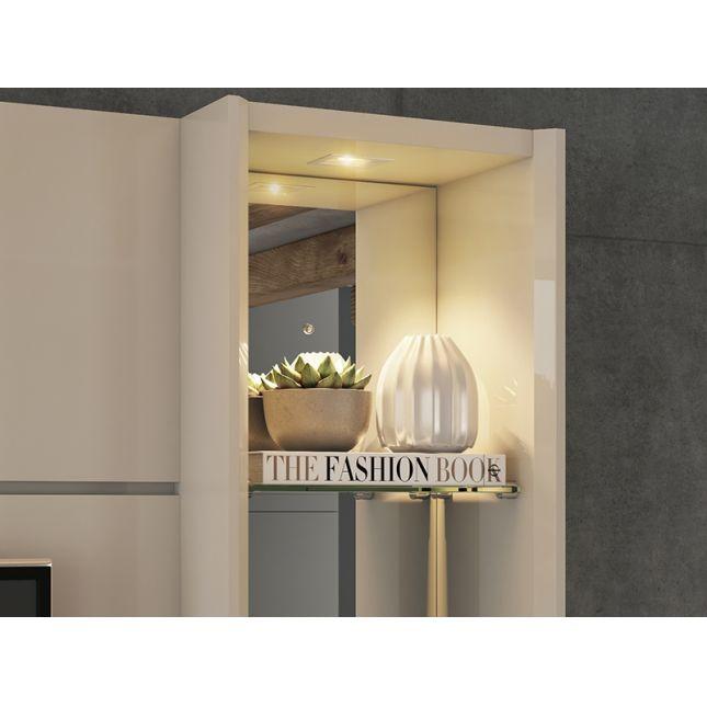 Home Riviera Permobili com Espelho e LED - Off White/Savana
